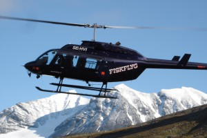 Helikopter vid Kebnekaise